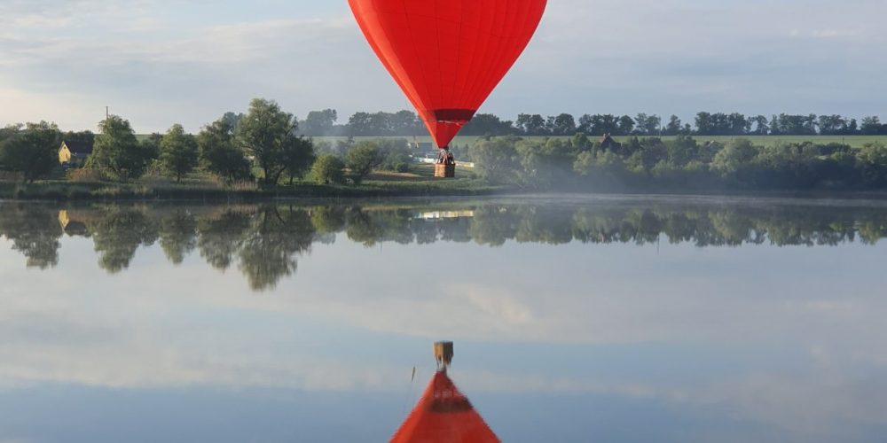 Полет на воздушном шаре для влюбленных