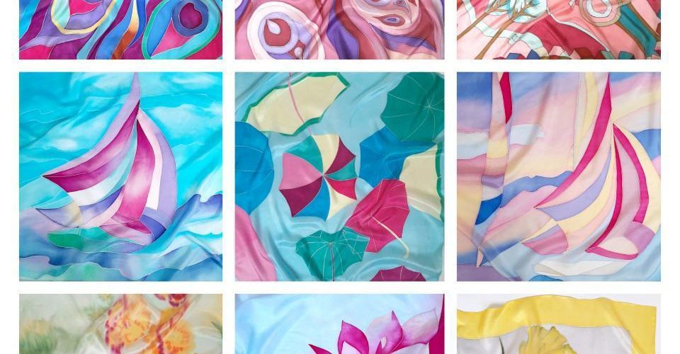Мастер – класс по росписи шелкового платка с вашим дизайном